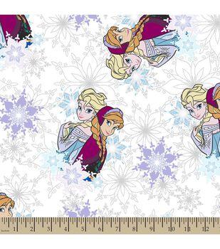 Disney® Frozen Print Fabric-Snowflake Sisters