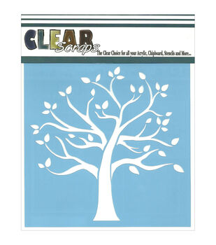 "Clear Scraps Stencils 6""X6""-Family Tree"