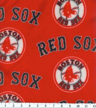 Boston Red Sox MLB Red Fleece Fabric
