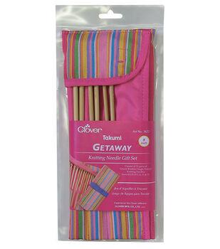 "Clover 9"" Getaway Takumi Single Point Knitting Needles Gift Set"