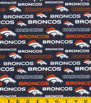 Denver Broncos NFL Glitter Cotton by Fabric Traditions, , hi-res