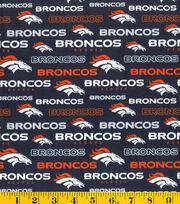Denver Broncos NFL Glitter Cottonby Fabric Traditions, , hi-res