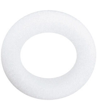 "Floracraft Styrofoam Wreath 5-7/8""X1-3/16"" 1Pk-White"