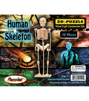Puzzled Inc 3D-Puzzle Jigsaw Human Skeleton