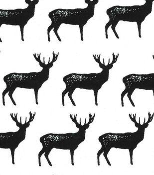 Snuggle Flannel Fabric-Buck Silhouette