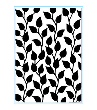 Elizabeth Craft Designs Curvy Leaves Embossing Folder