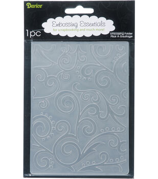 "Embossing Folder 4.25""X5.75""-Scroll Background"