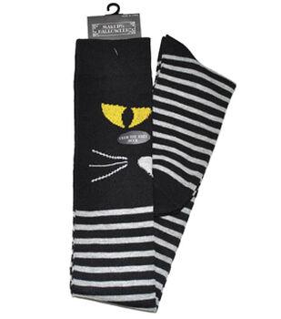Maker's Halloween Over the Knee Socks-Cat Stripe
