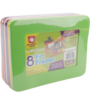 "Fibre Craft 6-1/8""x8"" Foam Frames-8PK/Primary"