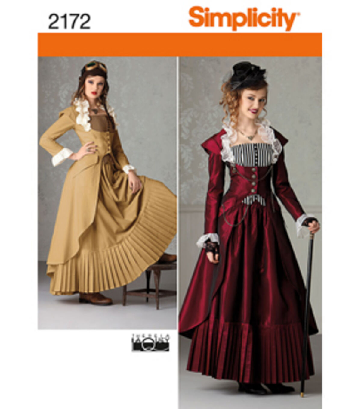 Steampunk Sewing Patterns- Dresses, Coats, Plus Sizes, Men's Patterns Simplicity - Pattern 2172 - Misses Steampunk Costume - Sizes 14-16-18-20 - Costumes - At JOANN Fabrics  Crafts $4.49 AT vintagedancer.com