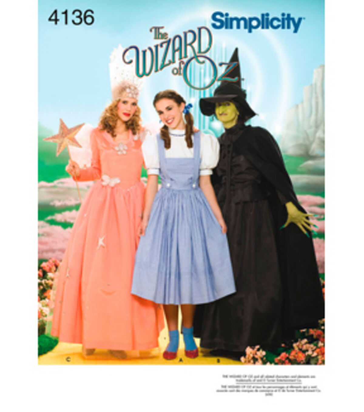 1940s Sewing Patterns – Dresses, Overalls, Lingerie etc Simplicity Pattern 4136 - Misses The Wizard of Oz Costumes - Sizes 6-8-10-12 $15.95 AT vintagedancer.com