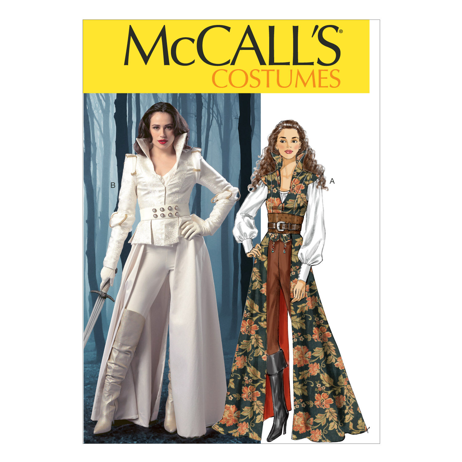 Steampunk Sewing Patterns- Dresses, Coats, Plus Sizes, Men's Patterns McCalls - Pattern M6819 - Collared Coat Top Corset and Belt - Sizes 6-8-10-12 - Costumes - At JOANN Fabrics  Crafts $18.95 AT vintagedancer.com