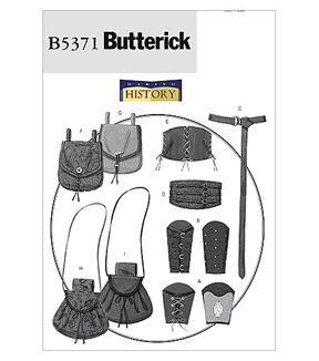 Steampunk Sewing Patterns- Dresses, Coats, Plus Sizes, Men's Patterns Butterick - Pattern B5371 - Wrist Bracers Corset Belt and Pouches - Size Small-medium - Patterns - At JOANN Fabrics  Crafts $4.24 AT vintagedancer.com