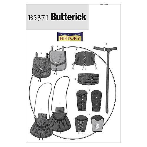 Steampunk Sewing Patterns- Dresses, Coats, Plus Sizes, Men's Patterns Butterick - Pattern B5371 - Wrist Bracers Corset Belt and Pouches - Size Xl-xxl - Patterns - At JOANN Fabrics  Crafts $16.95 AT vintagedancer.com