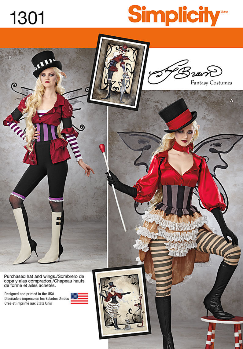 Steampunk Sewing Patterns- Dresses, Coats, Plus Sizes, Men's Patterns Simplicity - Pattern 1301 - Misses Victorian Circus Costumes - Sizes 14-16-18-20 - Costumes - At JOANN Fabrics  Crafts $4.99 AT vintagedancer.com