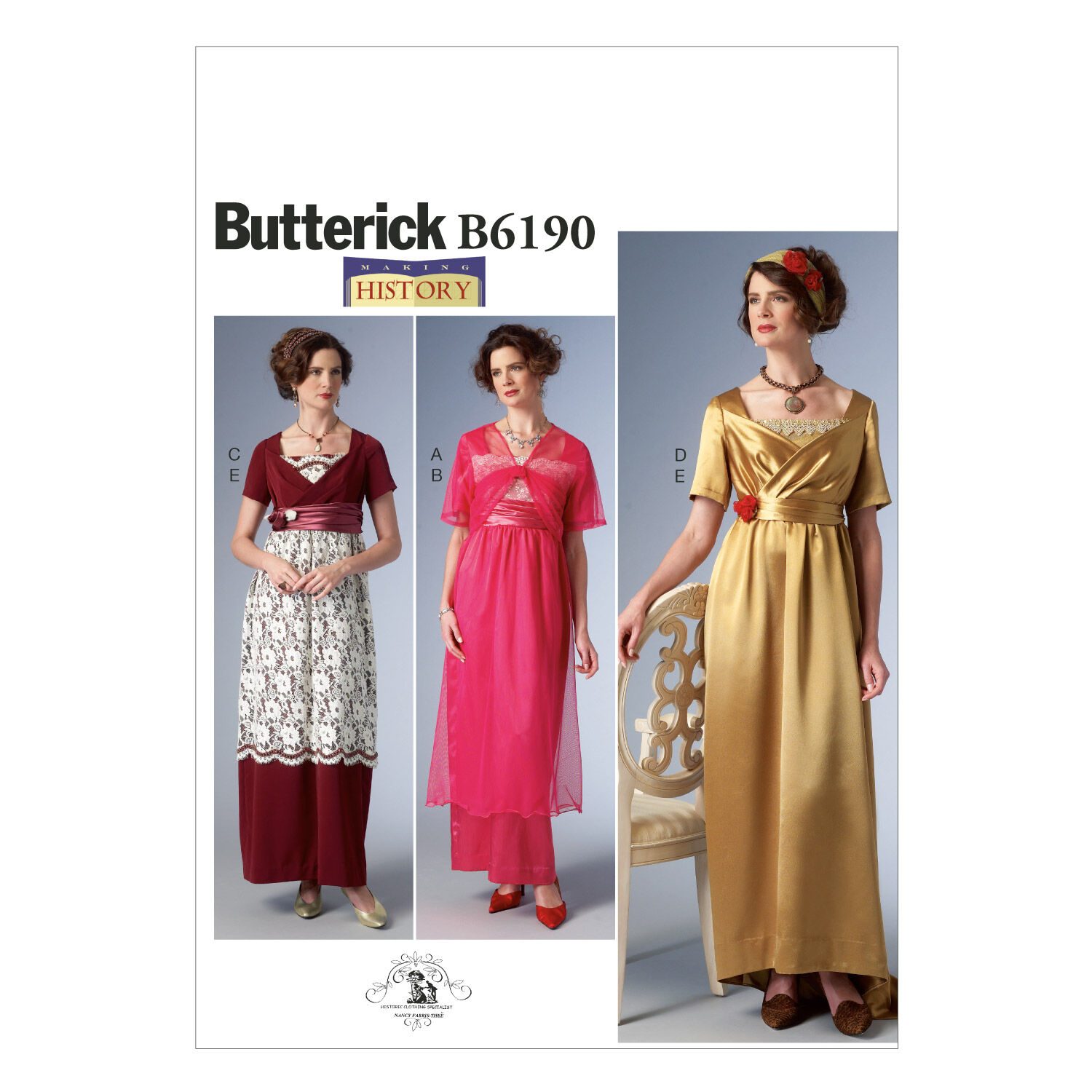 Edwardian Sewing Patterns- Dresses, Skirts, Blouses, Costumes Butterick - Pattern B6190 - Empire - Waist Dress Jacket and Headbands - Sizes 6-8-10-12-14 - Patterns - At JOANN Fabrics  Crafts $19.95 AT vintagedancer.com