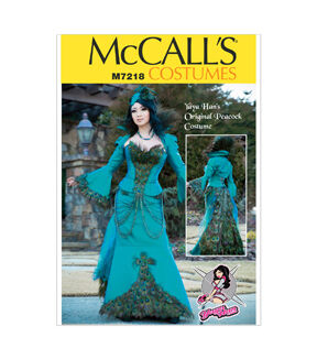 Steampunk Sewing Patterns- Dresses, Coats, Plus Sizes, Men's Patterns McCalls - Pattern M7218 - Yaya Han Peacock Jacket Corset and Skirt - Sizes 6-8-10-12-14 - Patterns - At JOANN Fabrics  Crafts $21.95 AT vintagedancer.com