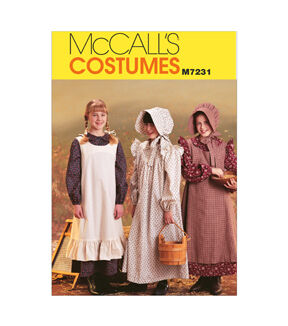 Vintage Style Children's Clothing: Girls, Boys, Baby, Toddler McCalls - Pattern M7231 - Girls Pioneer Costumes - Sizes 14-16 - Kids - At JOANN Fabrics  Crafts $13.95 AT vintagedancer.com