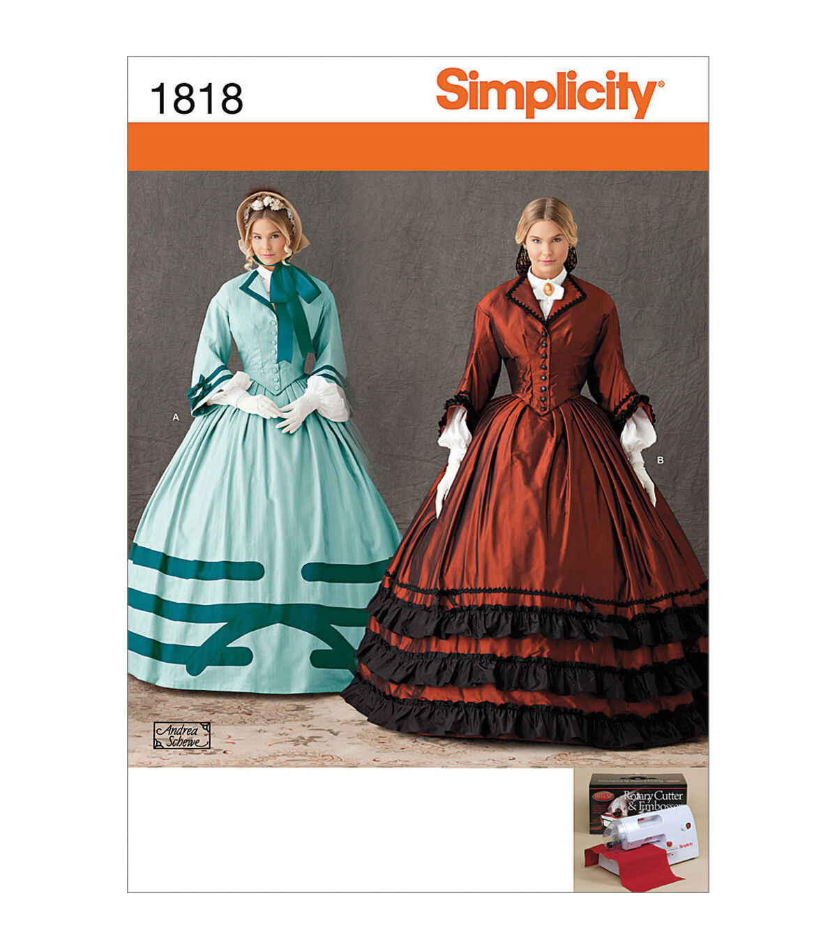 Guide to Victorian Civil War Costumes on a Budget Simplicity - Patterns 1818 - Misses Civil War Costume - Sizes 8-10-12-14 - Costumes - At JOANN Fabrics  Crafts $4.49 AT vintagedancer.com