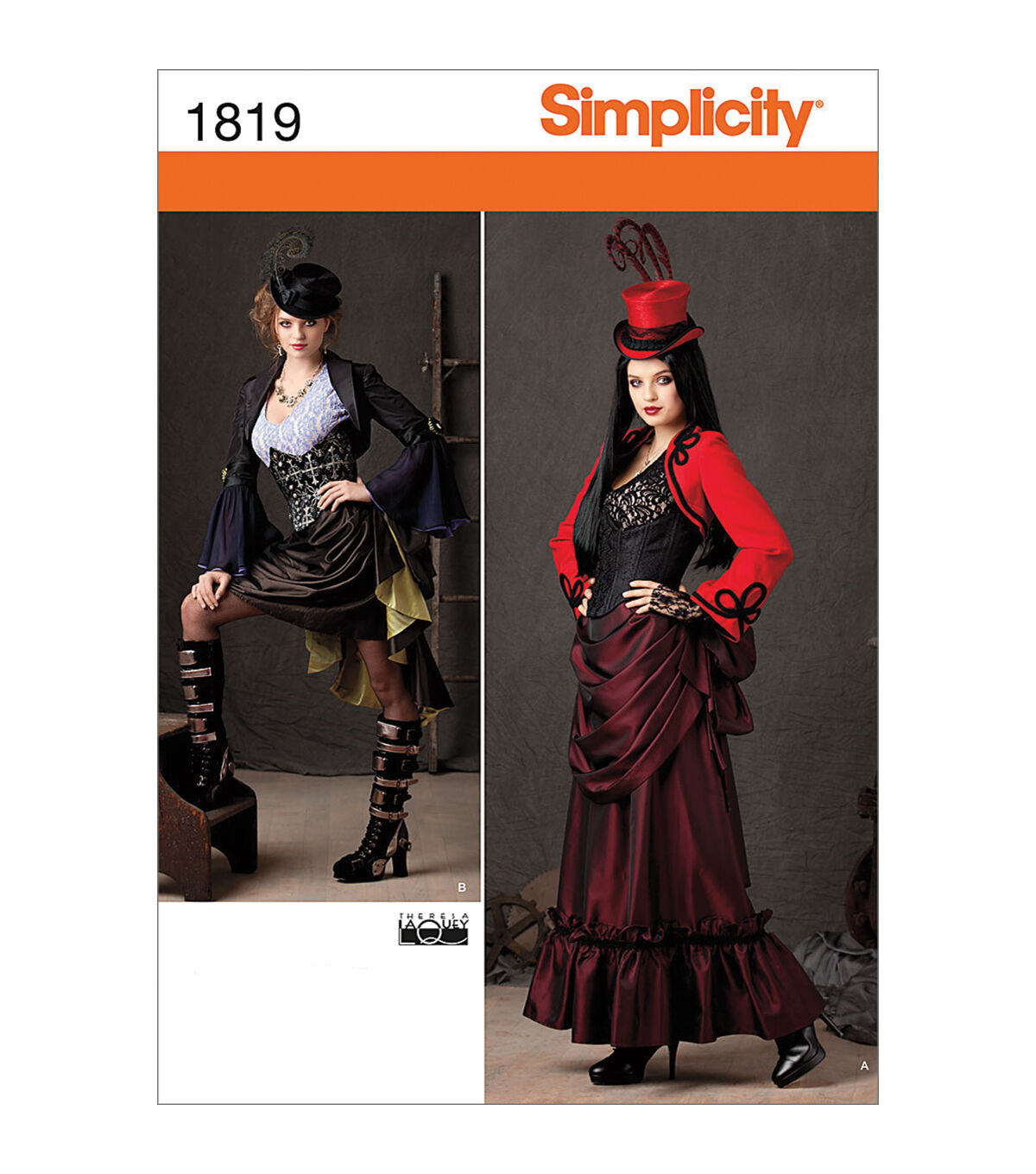 Steampunk Sewing Patterns- Dresses, Coats, Plus Sizes, Men's Patterns Simplicity - Patterns 1819 - Misses Steampunk Costume - Sizes 6-8-10-12 - Costumes - At JOANN Fabrics  Crafts $4.49 AT vintagedancer.com