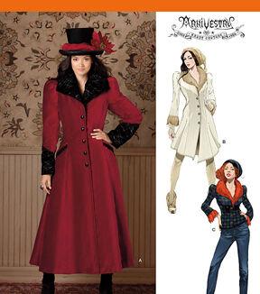 Steampunk Sewing Patterns- Dresses, Coats, Plus Sizes, Men's Patterns Simplicity - Patterns 1732 - Misses Costume Coat - Sizes 3-4-5-6-7-8 - Costumes - At JOANN Fabrics  Crafts $17.95 AT vintagedancer.com