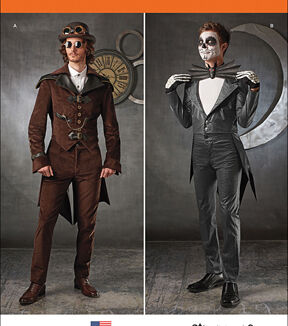 Steampunk Sewing Patterns- Dresses, Coats, Plus Sizes, Men's Patterns Simplicity - Patterns 1039 - Mens Cosplay Costumes - Sizes 46-48-50-52 - Costumes - At JOANN Fabrics  Crafts $20.95 AT vintagedancer.com