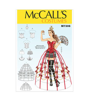 Steampunk Sewing Patterns- Dresses, Coats, Plus Sizes, Men's Patterns McCalls - Pattern M7306 - Corsets Shorts Collars Hoop Skirts and Crown - Sizes 6-8-10-12-14 - Costumes - At JOANN Fabrics  Crafts $4.49 AT vintagedancer.com