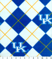 University of Kentucky NCAA Argyle Fleece Fabric, , hi-res