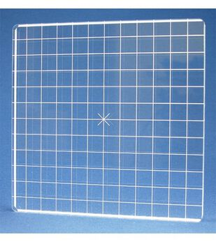 Acrylic Stamp Block W/Alignment Grid 6X6-6x6x.5