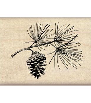 Inkadinkado® Mounted Rubber Stamp-Pine Bough