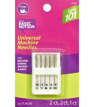Schmetz Universal Sewing 101 Machine Needle 5pcs Sizes 11, 14, 16