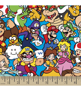 Nintendo Packed Characters Cotton Fabric