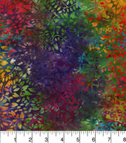 Batik Cotton Fabric - Curly Vine Rainbow, , hi-res