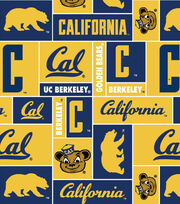 California Golden Bears NCAA Block Fleece Fabric, , hi-res