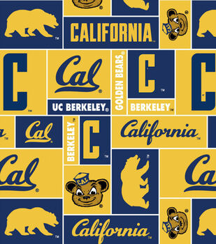 California Golden Bears NCAA Block Fleece Fabric