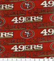 San Francisco 49ers NFL Fleece Fabric by Fabric Traditions, , hi-res