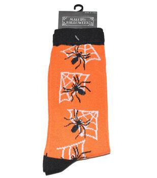 Maker's Halloween Socks-Vertical Spider Web Crew