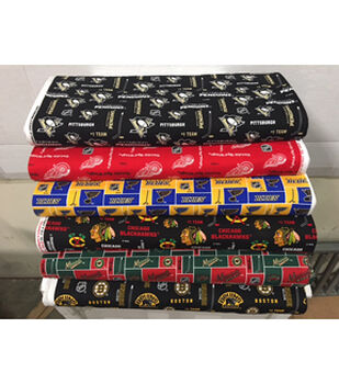 Assorted NHL Fleece Remnants-10yds