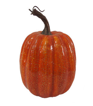 Blooming Autumn 7'' Crackle Pumpkin-Orange