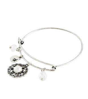 Finished Bracelet Pearl - Silver
