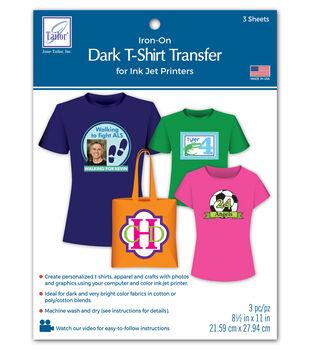 Dark T-Shirt Transfer Paper For Ink Jet Printers 3/Pkg