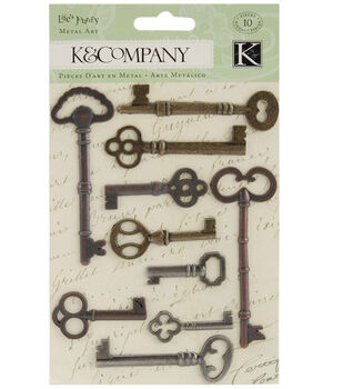 K & Company Life's Journey Metal Art-Keys