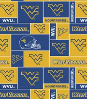 West Virginia University NCAA  Fleece Fabric, , hi-res