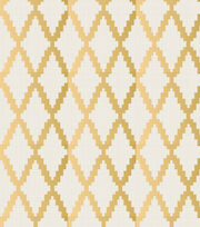 Legacy Studio™ Cotton Fabric-Metallic Gold Trellis, , hi-res