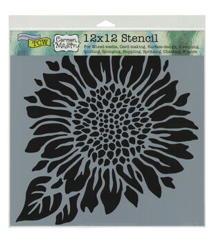 Crafter's Workshop 12''x12'' Template-Joyful Sunflower