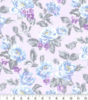 Made in America Cotton Fabric-Shabby Chic Floral Purple, , hi-res