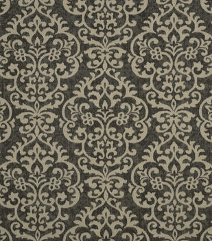 Jennifer Adams Upholstery Fabric-Shadow Damask Graphite 9