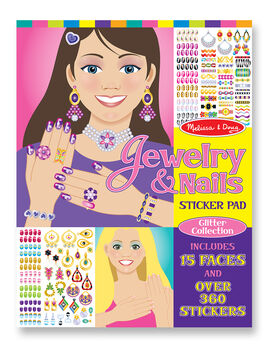 Jewelry Nails Glitter Sticker Pad