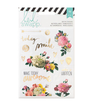 Heidi Swapp Memory Planner Clear Stickers-Floral
