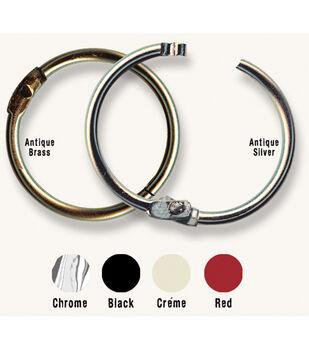 "Custom Binding Rings Medium 1.5"" 10/Pkg-Black"